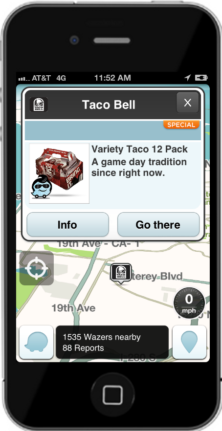 Taco Bell In-App Message