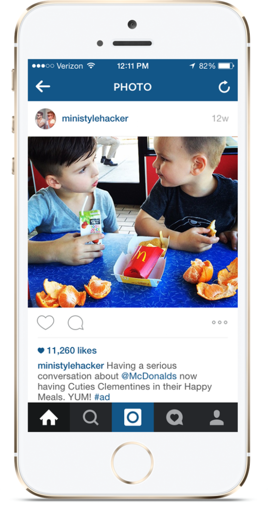 McDonalds used PopularPays to promote adding cuties clementines to Happy Meals.